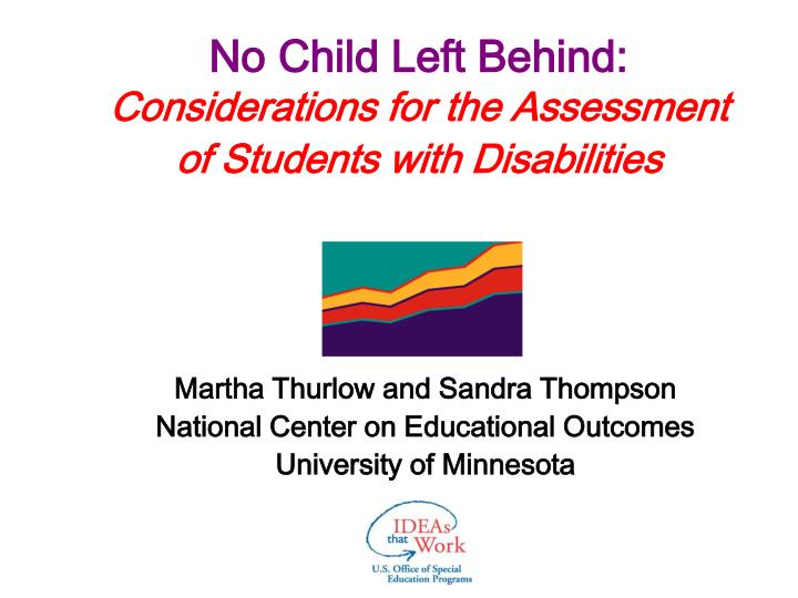 no child left behind considerations for the assessment of students with disabilities n.