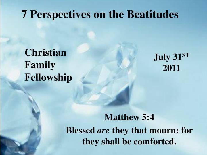 7 perspectives on the beatitudes n.