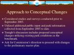 approach to conceptual changes