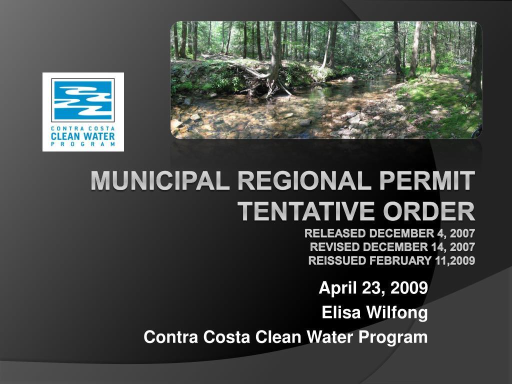 april 23 2009 elisa wilfong contra costa clean water program l.