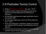 c 9 pesticides toxicity control