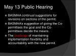 may 13 public hearing