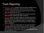 trash reporting