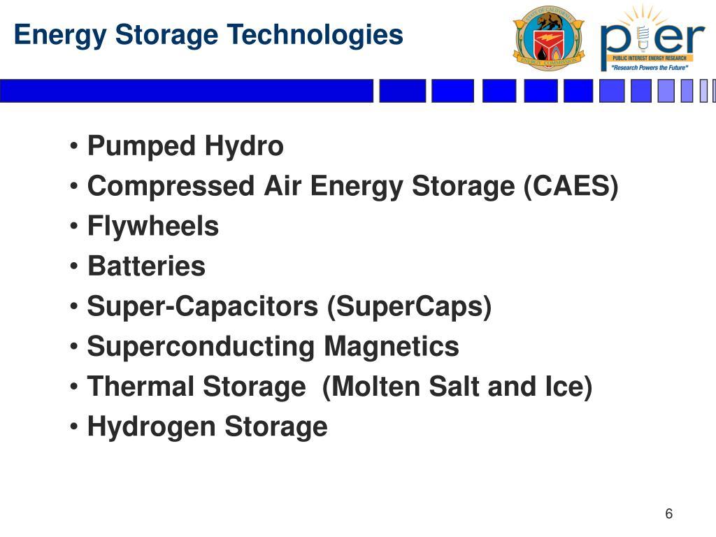 Energy Storage Technologies