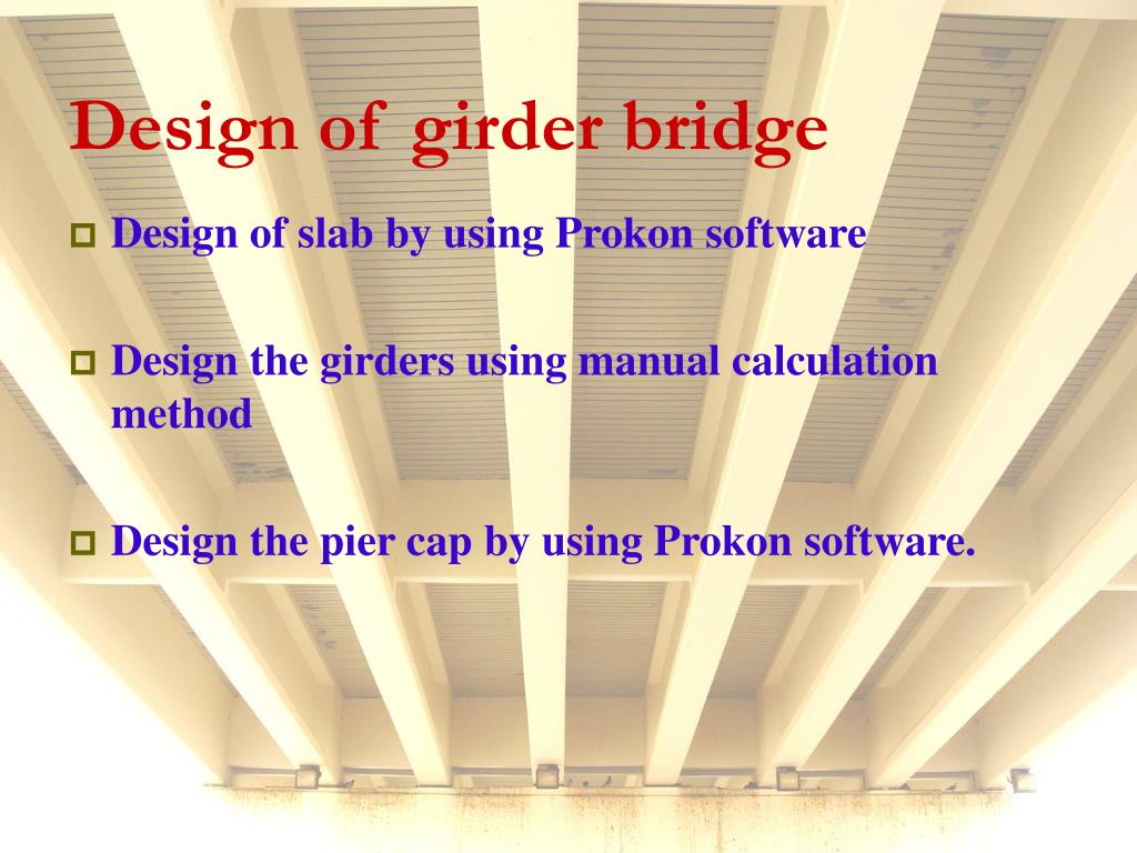 Design of girder bridge