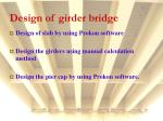 design of girder bridge