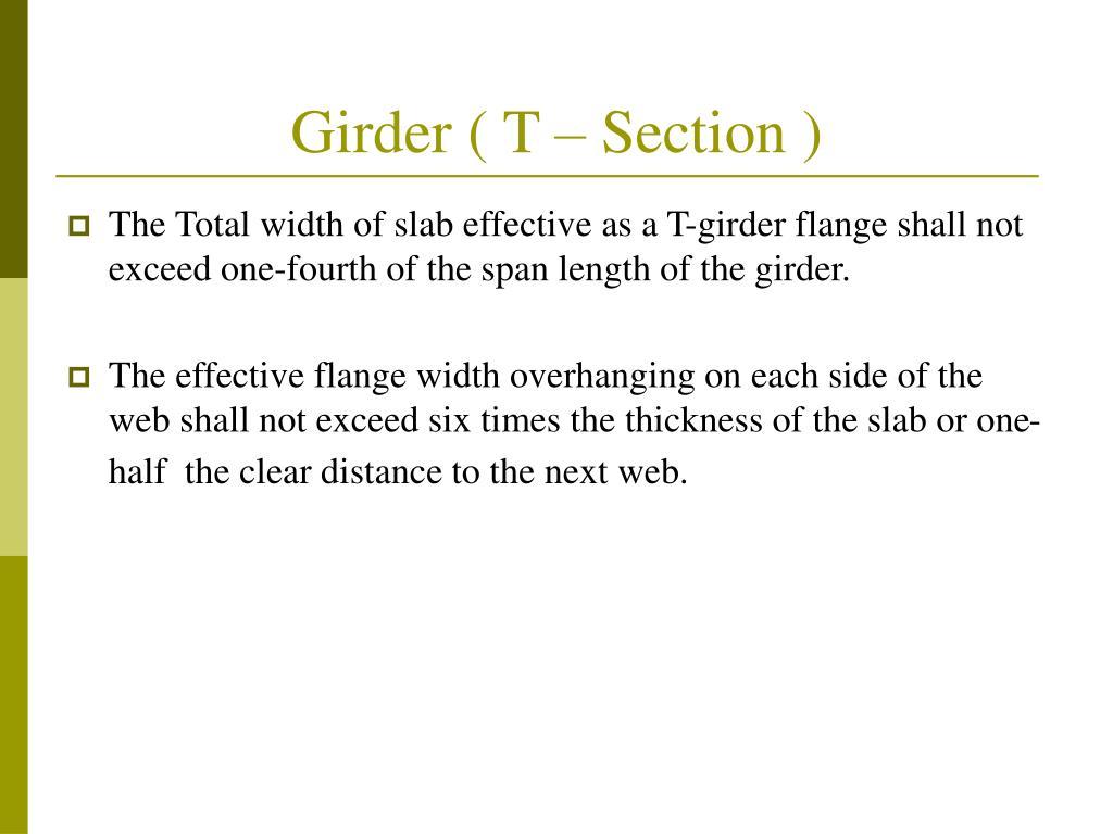 Girder ( T – Section )