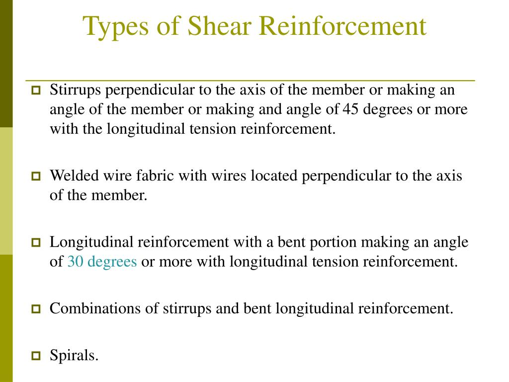 Types of Shear Reinforcement