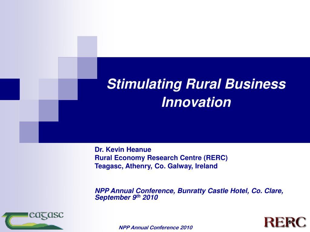 stimulating rural business innovation l.