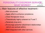 personality disorder service what works32