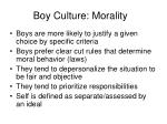boy culture morality