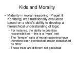 kids and morality