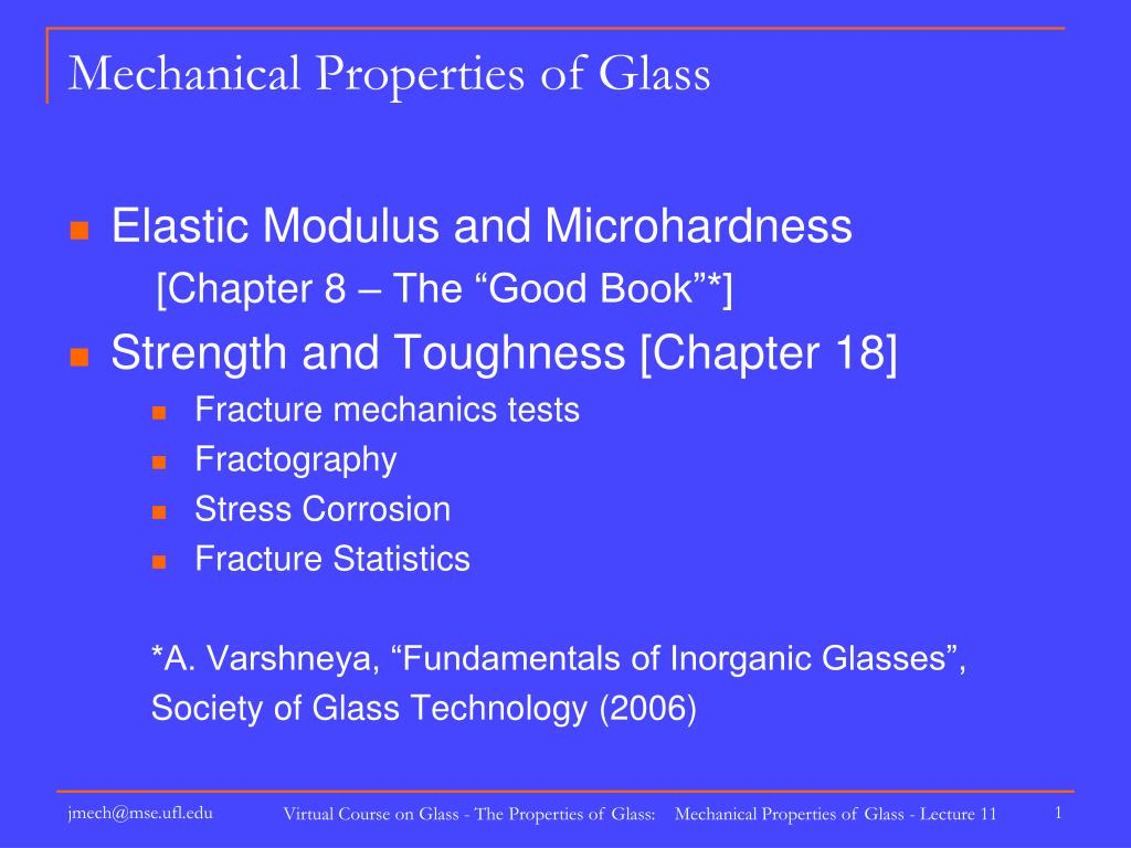 mechanical properties of glass l.