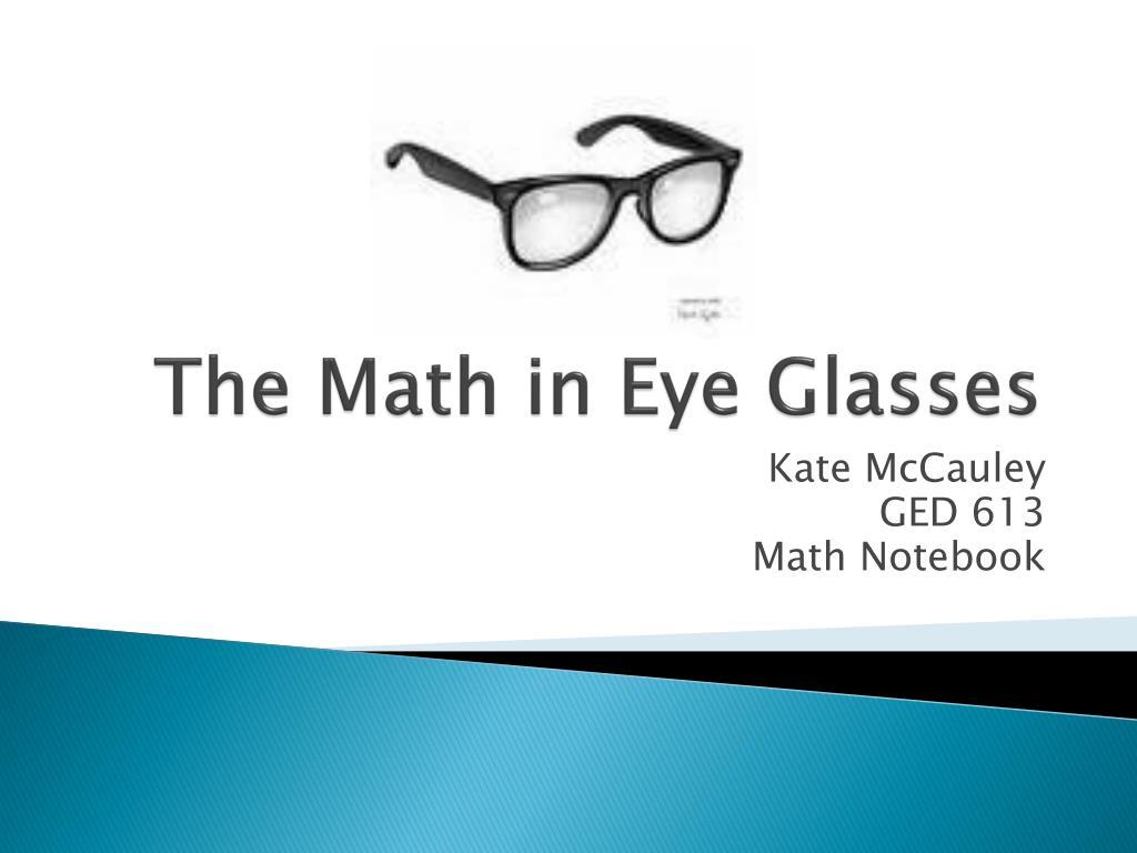 the math in eye glasses l.