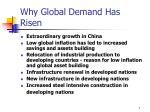 why global demand has risen