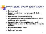 why global prices have risen