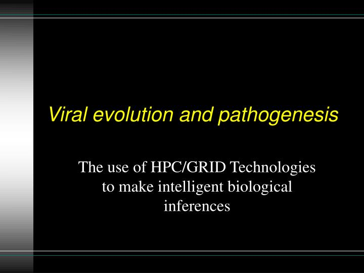 viral evolution and pathogenesis n.