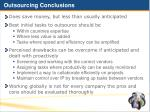 outsourcing conclusions