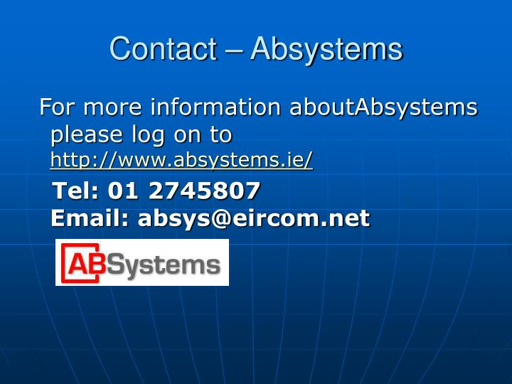 Contact absystems