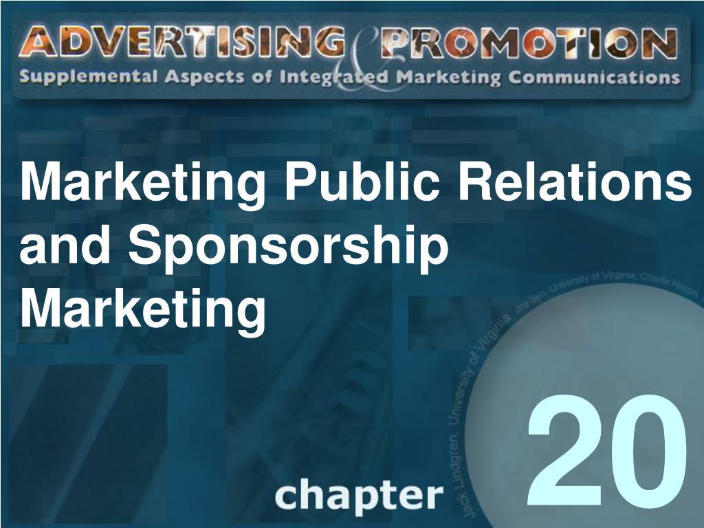 marketing public relations and sponsorship marketing l.