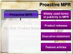 proactive mpr
