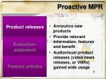 proactive mpr6