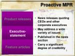 proactive mpr7