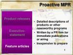 proactive mpr8