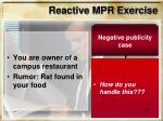 reactive mpr exercise