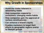 why growth in sponsorships