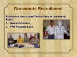 grassroots recruitment