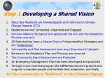 step 1 developing a shared vision