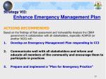 strategy vii enhance emergency management plan