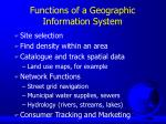 functions of a geographic information system