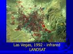 las vegas 1992 infrared landsat