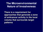 the microenvironmental nature of invasiveness