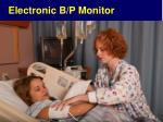 electronic b p monitor