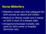 nurse midwifery