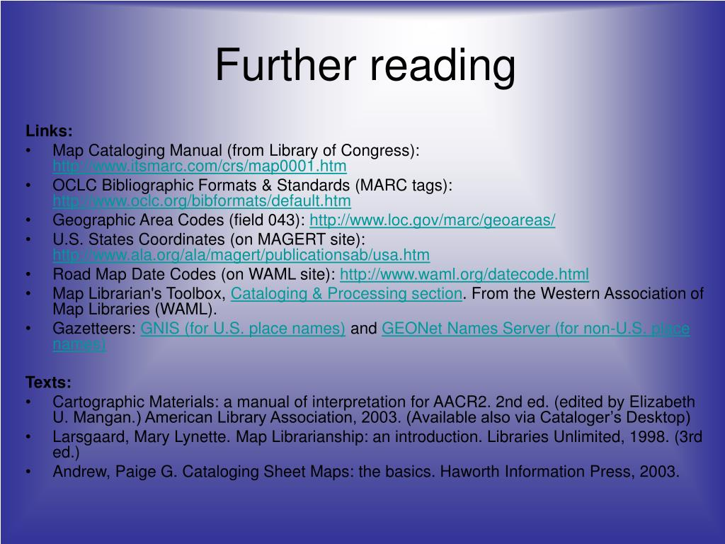 PPT - Introduction to Map Cataloging PowerPoint Presentation - ID:355332
