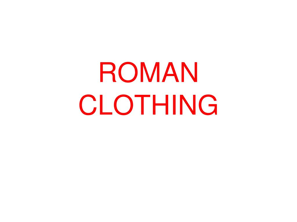 roman clothing l.