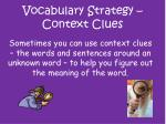 vocabulary strategy context clues