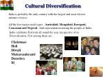 cultural diversification