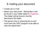 e mailing your document