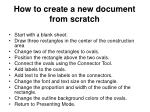 how to create a new document from scratch