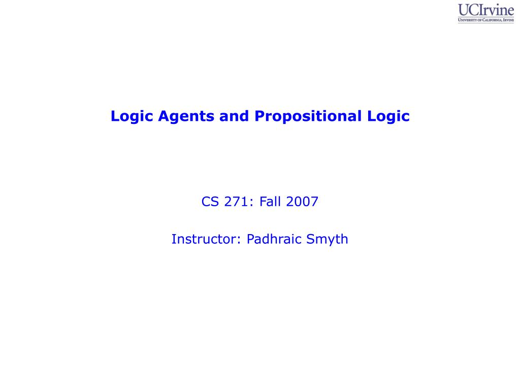 logic agents and propositional logic l.
