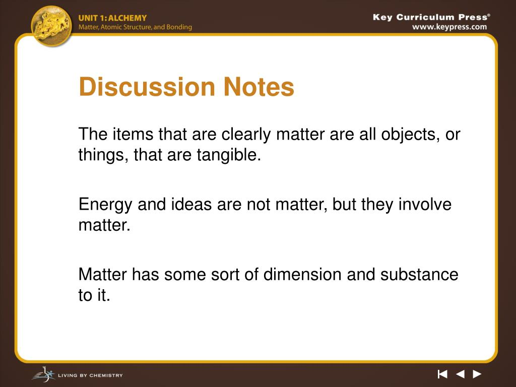 Discussion Notes