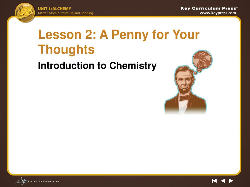 Lesson 2: A Penny for Your Thoughts