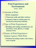print experiences and environments duke 2000