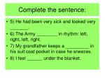 complete the sentence15