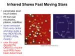 infrared shows fast moving stars